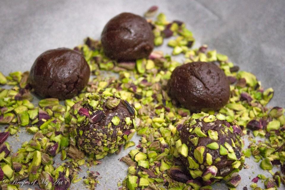Chocolate and Pistachio Cookies