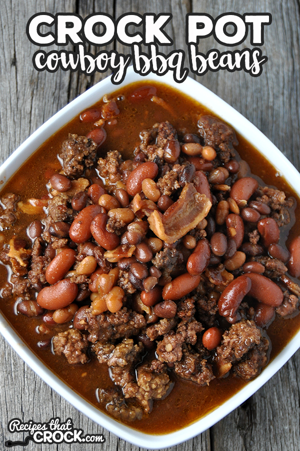 Are you looking for an easy dinner idea? Or, are you looking for a great slow cooker recipe to bring to a potluck? You simply must try these yummy Crock Pot Cowboy BBQ Beans. via @recipescrock