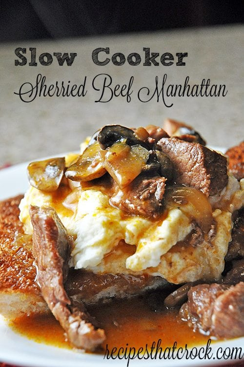 Sherried Beef Manhattan Crockpot