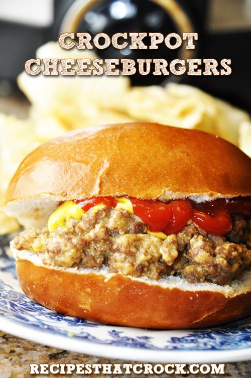slow cooker cheeseburgers