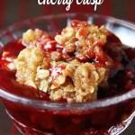 Crock Pot Cherry Crisp