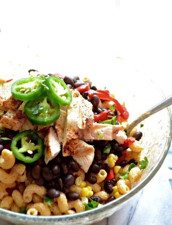 chicken enchilada pasta salad