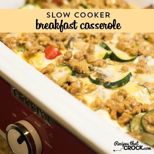 Slow cooker breakfast casserole recipes that crock for Slow cooker breakfast recipes for two