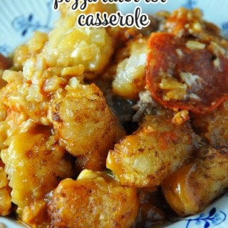 This Crock Pot Pizza Tater Tot Casserole is sure to be an instant family favorite!