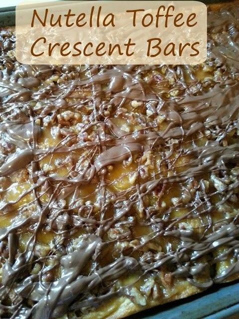 Nutella toffee crescent bars sgl