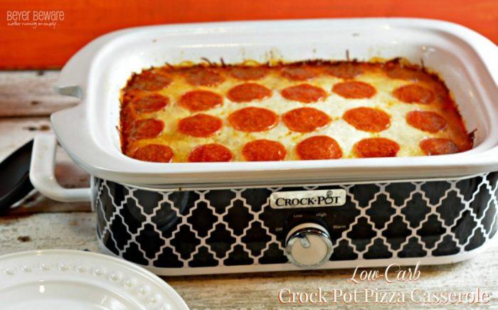 Low Carb Crock Pot Pizza Casserole