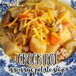 Are you looking for a soup that has it all? This Crock Pot Sausage Potato Soup has sausage, veggies and flavor that is out of this world!