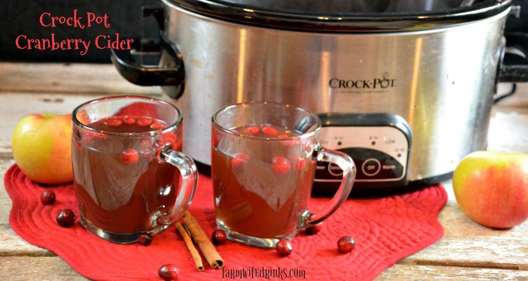 Crock Pot Cranberry Cider