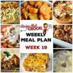 Meal Planning: Weekly Crock Pot Menu 19 (plus Weekly Chat)