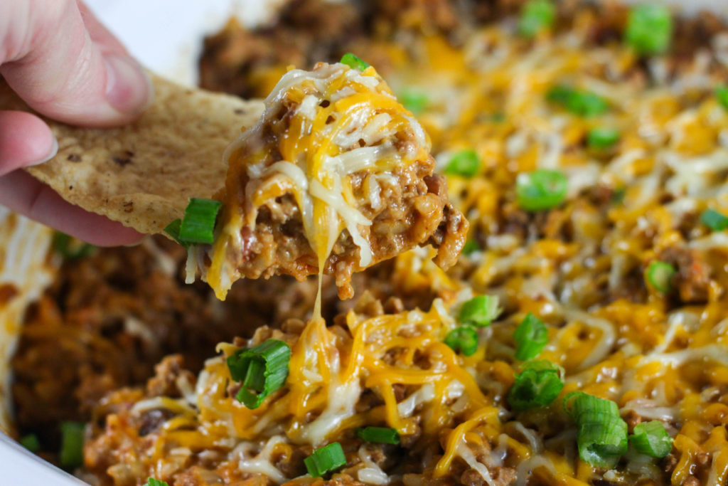 Beef Enchilada and Rice Dip