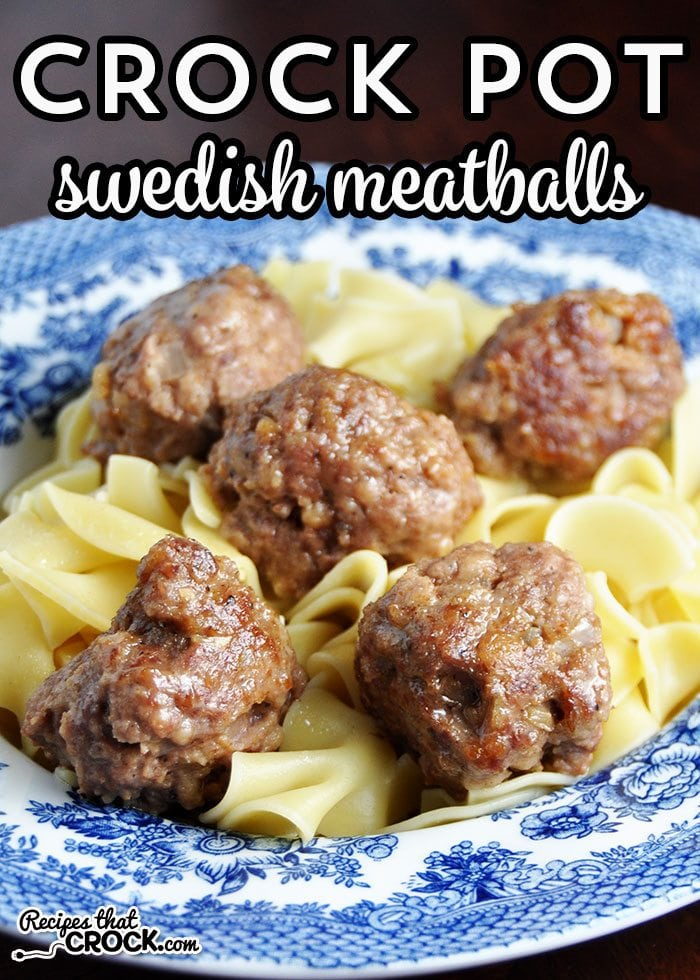Do you love meatballs? Do you have a favorite meatball recipe? This Crock Pot Swedish Meatballs recipe just might be your new favorite! Yum!