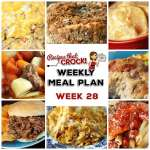 Meal Planning: Weekly Crock Pot Menu 28