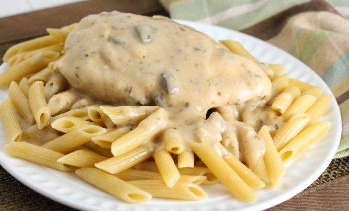 Crock Pot Creamy Herbed Chicken