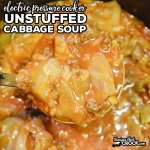 Unstuffed Cabbage Soup Electric Pressure Cooker Recipe