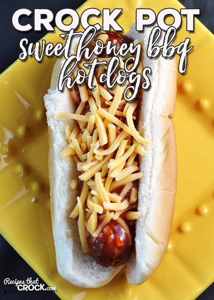You are gonna love these yummy Sweet Crock Pot Honey BBQ Hot Dogs! They are super easy to throw together and always a crowd favorite!