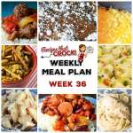 Meal Planning: Weekly Crock Pot Menu 36