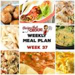 Meal Planning: Weekly Crock Pot Menu 37