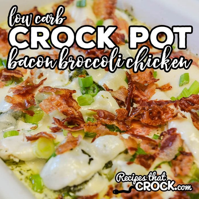 Do you love bacon? Our Crock Pot Bacon Broccoli Chicken Recipe is one of our favorite ways to cook up chicken and if you are eating low carb, this dish only has 2.4 Net Carbs per serving!