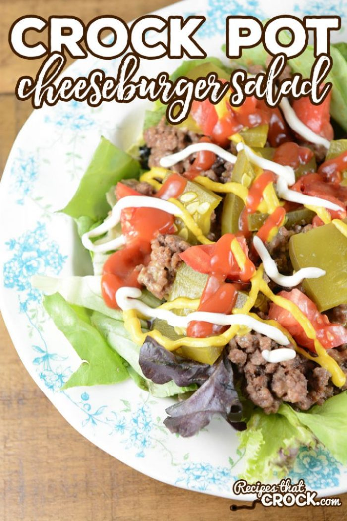 Are you looking for a yummy way to switch up your salad routine? Our Crock Pot Cheeseburger Salad takes all the delicious flavors from your favorite burger and turns it into a fun salad!