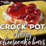 Do you love cheesecake? Ha! Silly question! These Crock Pot Cherry Cheesecake Bars are delicious, easy and portable! Win, win, win!