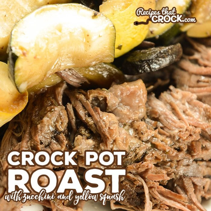 Are you looking for a different crock pot roast recipe? Our Crock Pot Roast with Zucchini switches out the traditional root vegetables found in most roast recipes for zucchini, yellow squash and mushrooms.