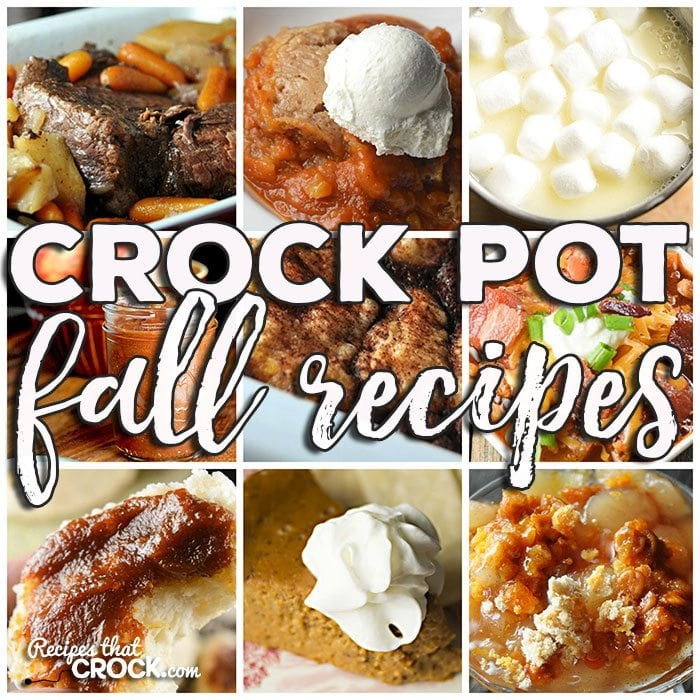 This week for our Friday Favorites we have some yummy Crock Pot Fall Recipes like Perfect Crock Pot Roast, Meat Lover's Crock Pot Chili, Crock Pot Beef Stew, Crock Pot Hot White Chocolate, Crock Pot Hot Chocolate, Easy Cinnamon Cider, Crock Pot Crustless Pumpkin Pie, Slow Cooker Pumpkin Butter, Slow Cooker Pumpkin Spoon Cake, Crock Pot Salted Caramel Apple Spoon Cake, Crock Pot Apple Dumplings and Slow Cooker Apple Butter.