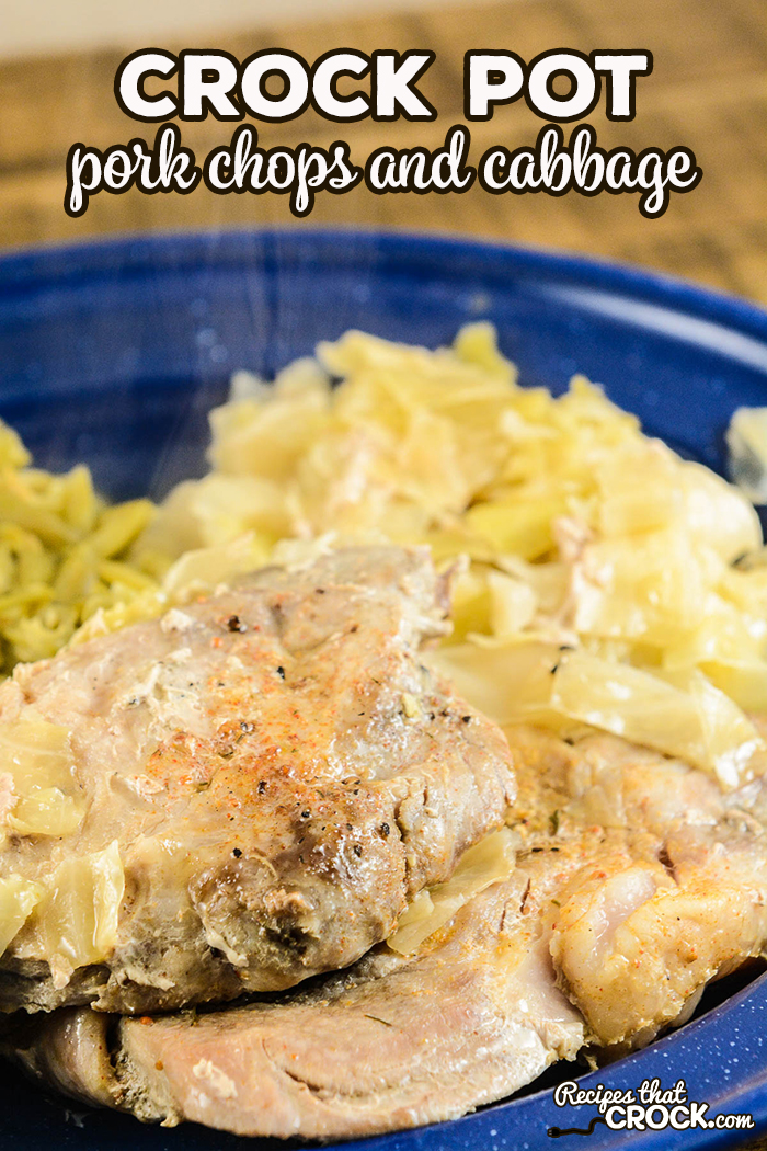 Our Crock Pot Pork Chops and Cabbage is an delicious family meal that is so simple to make with just a handful of ingredients. #LowCarb #CrockPot #FamilyMeal #PorkChops