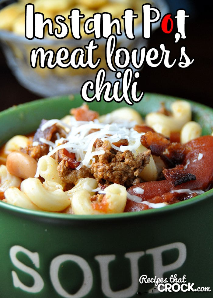 Love ourMeat Lover's Crock Pot Chili, but have no time? This Meat Lover's Instant Pot Chili is the perfect way to have this meal in a fraction of the time!