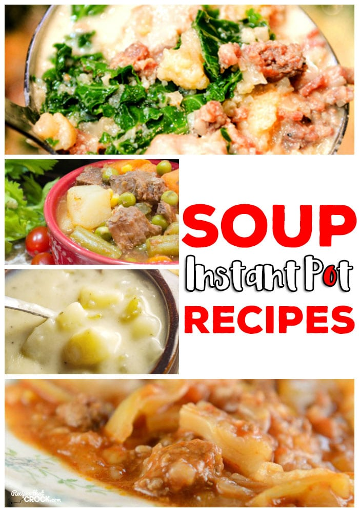These electric pressure cooker soups are quick and easy to make for a yummy family dinner. Instant Pot Unstuffed Cabbage Soup, Potato Soup, Beef Stew, Zuppa Toscana and much more!