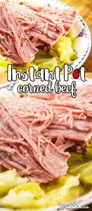 Are you looking for a quick and easy way to make corned beef for St. Patrick's Day, New Year's Day or simply a delicious family dinner? Our Instant Pot Corned Beef Recipe is super simple to throw together and done in a fraction of the time it takes to make a traditional or Crock Pot Corned Beef recipe.