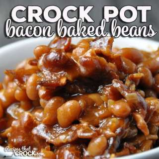 This Crock Pot Bacon Baked Beans recipe submitted by one of our readers is the perfect side to bring to a potluck or barbecue. It would also be a great compliment to your own weeknight meal!