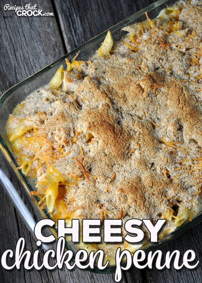 This Cheesy Chicken Penne is a delicious oven recipe that is sure to please every person at your dinner table!(Don't tell, it is easy to make too!)