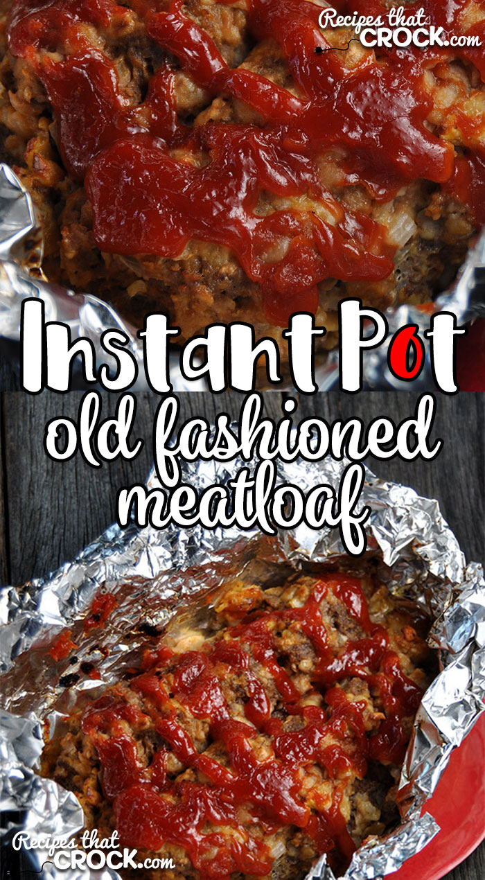 Need dinner in a hurry? This Old Fashioned Meatloaf takes our tried and true, super simple Old Fashioned Meatloaf recipe and turns it into an Instant Pot recipe!