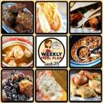 This week's weekly menu features Easy Crock Pot Round Steak, Easy Crock Pot Chicken Tacos, Crock Pot Italian Meatball Soup, Crock Pot Citrus Teriyaki Pork Loin, Crock Pot Chili Cheese Dogs, Crock Pot Beef Stew, One Pot Crock Pot Chicken Dinner, Crock Pot Mini Cream Cheese Stuffed Peppers, Crock Pot Blueberry Cobbler and Crock Pot Southwest Breakfast Casserole.