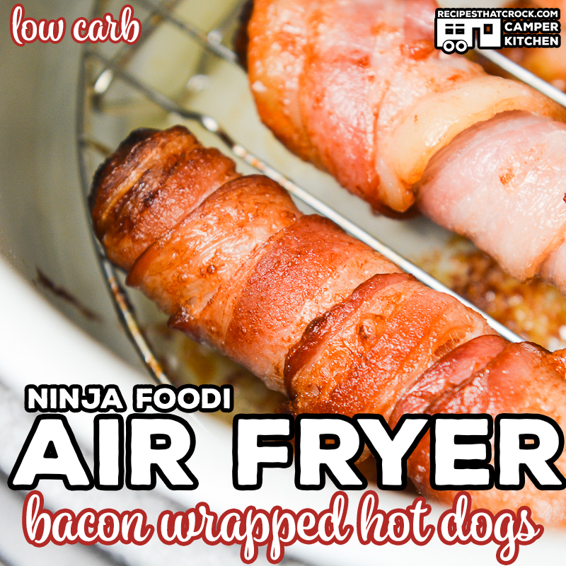 We love making theseAir Fryer Bacon Wrapped Hot Dogs! This is a quick and easy low carb Ninja Foodi recipe that kids of all ages love!