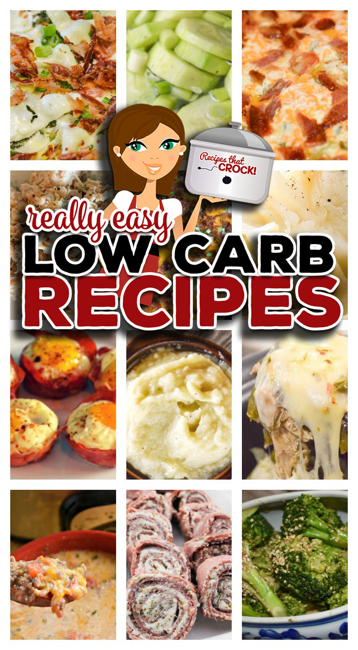 Are you looking for some really Easy Low Carb Recipes? We have gathered some of our favorite low carb recipes together in a handy list for low carb beginners and those looking for some easy dishes to whip up while enjoying the low carb lifestyle. We are sharing Low Carb Breakfasts, Popular Low Carb Main Dishes, Sides and Snacks that are low on carbs and some really amazing low carb soups like: Low Carb Taco Soup, Low Carb Crock Pot Zuppa Toscana Soup, Low Carb Chicken Tortilla Soup, Low Carb Crock Pot Creamy Tomato Soup, Low Carb Crock Pot Creamy Pizza Soup and Low Carb Crock Pot Broccoli Alfredo Soup.
