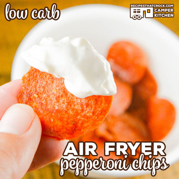 You can make Air Fryer Pepperoni Chips in a matter of minutes. These crisps are a great low carb snack to serve with party dips! Ninja Foodi friendly too!