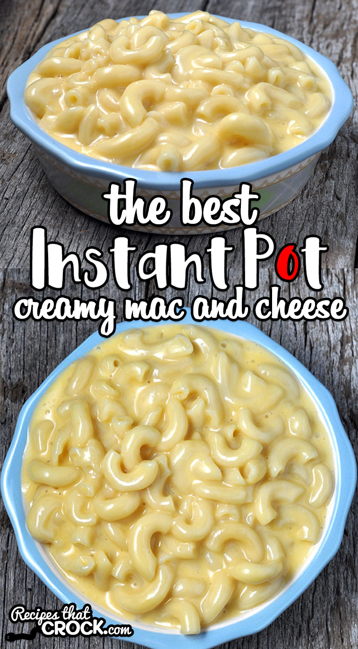 If you are looking for the best, this is The Best Instant Pot Creamy Mac and Cheese recipe. It is easy, cheesy and loved by everyone! via @recipescrock