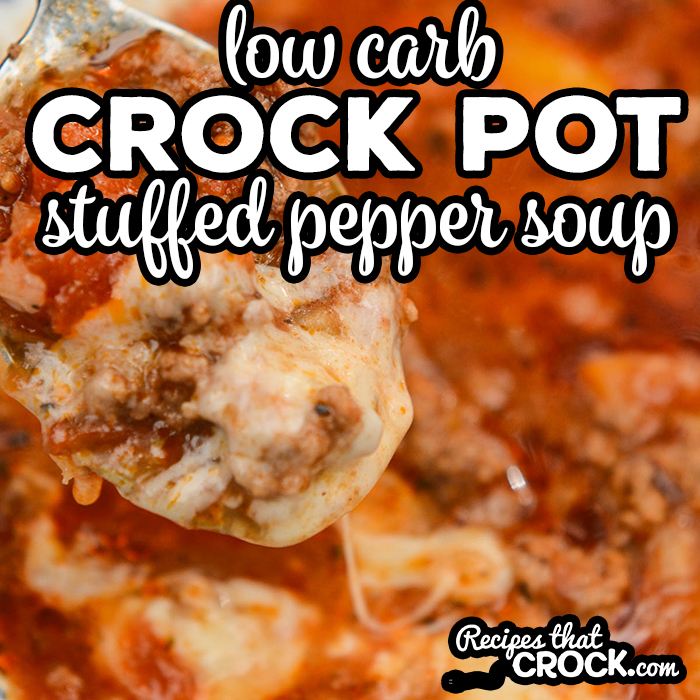 Our Low Carb Crock Pot Stuffed Pepper Soup is a low carb version of our very popular Crock Pot Stuffed Pepper Soup.