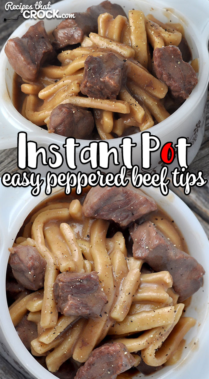 This Easy Instant Pot Peppered Beef Tips recipe is the perfect comfort food for busy nights when you don't have a ton of time, but want a delicious dinner!