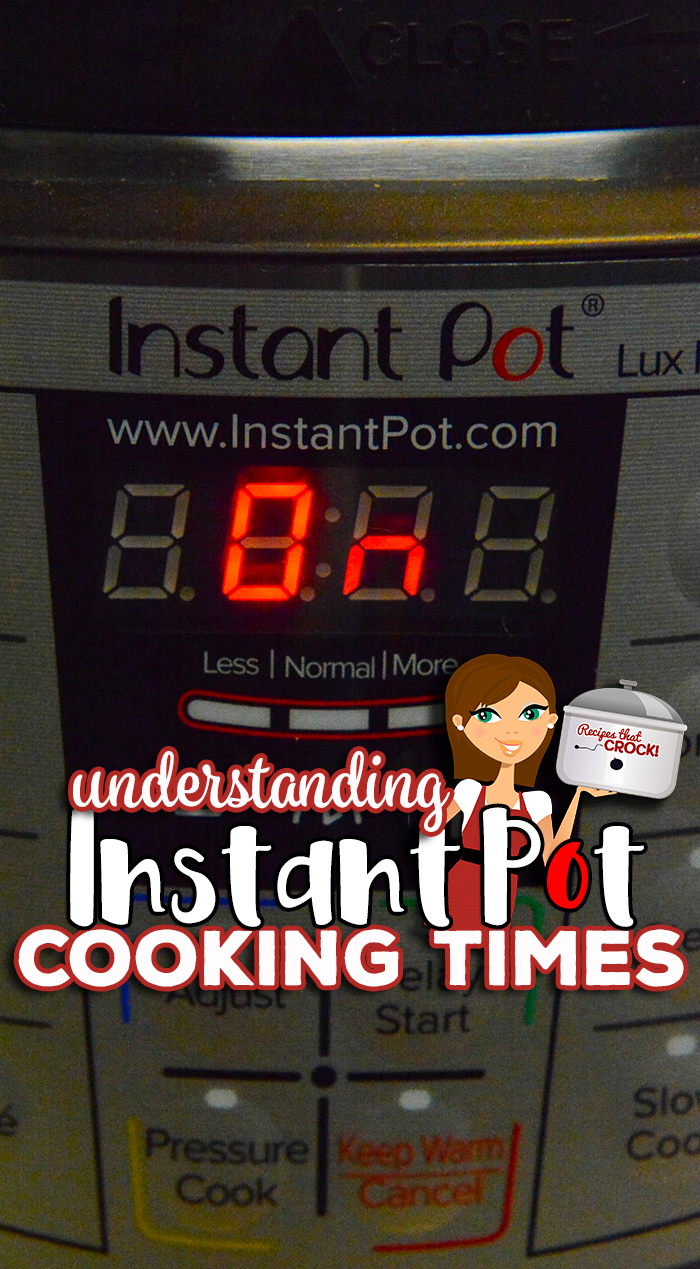 Wondering why your Instant Pot timer doesn't start immediately? Understanding Instant Pot Cooking Times is easy once you learn a few basic things to look for when considering an electric pressure cooker recipe. We discuss what reaching pressure, natural release and quick release mean and other must-know information for Instant Pot and Ninja Foodi beginners. via @recipescrock