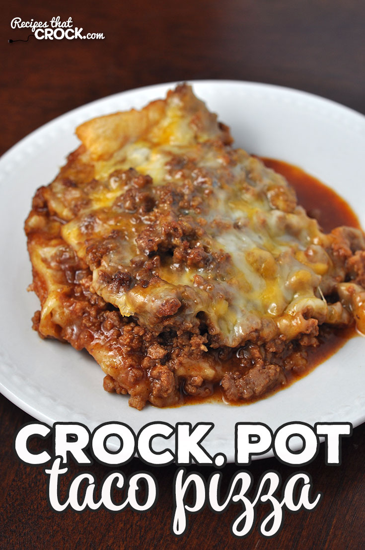 This Crock Pot Taco Pizza is so easy and such a treat! It cooks up quickly, so you can enjoy it even on a weeknight! I am positive you WILL enjoy it! Yum!
