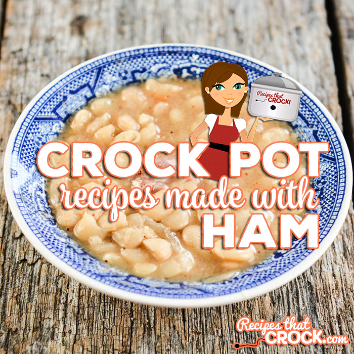 Are you looking for Crock Pot Recipes to Make with Ham? These are our favorite breakfast and dinner recipes for leftover ham, including ham recipes with potatoes, beans, pasta or cabbage. Low carb options too!  Crock Pot Ham Breakfast Casseroles, Ham and Beans, Potato Casseroles and Ham and Cabbage plus much more!