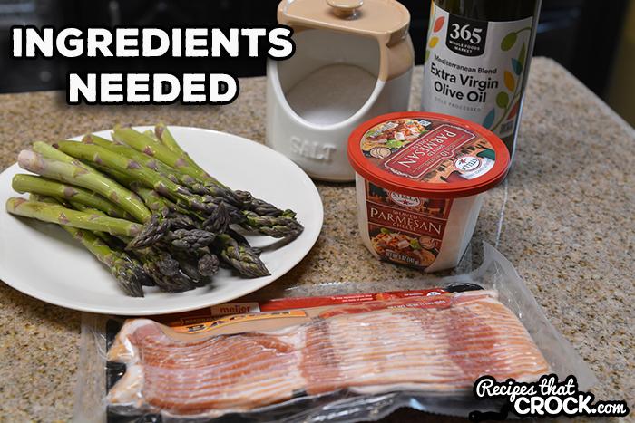 Ingredients for asparagus bacon bundles