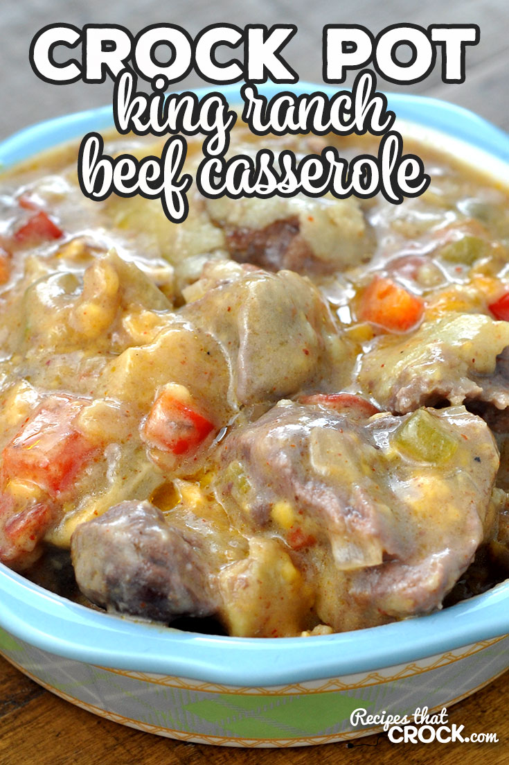 This Crock Pot King Ranch Beef Casserole recipe is an adaptation of the chicken version of this recipe. This casserole is amazing! You are going to love it! via @recipescrock