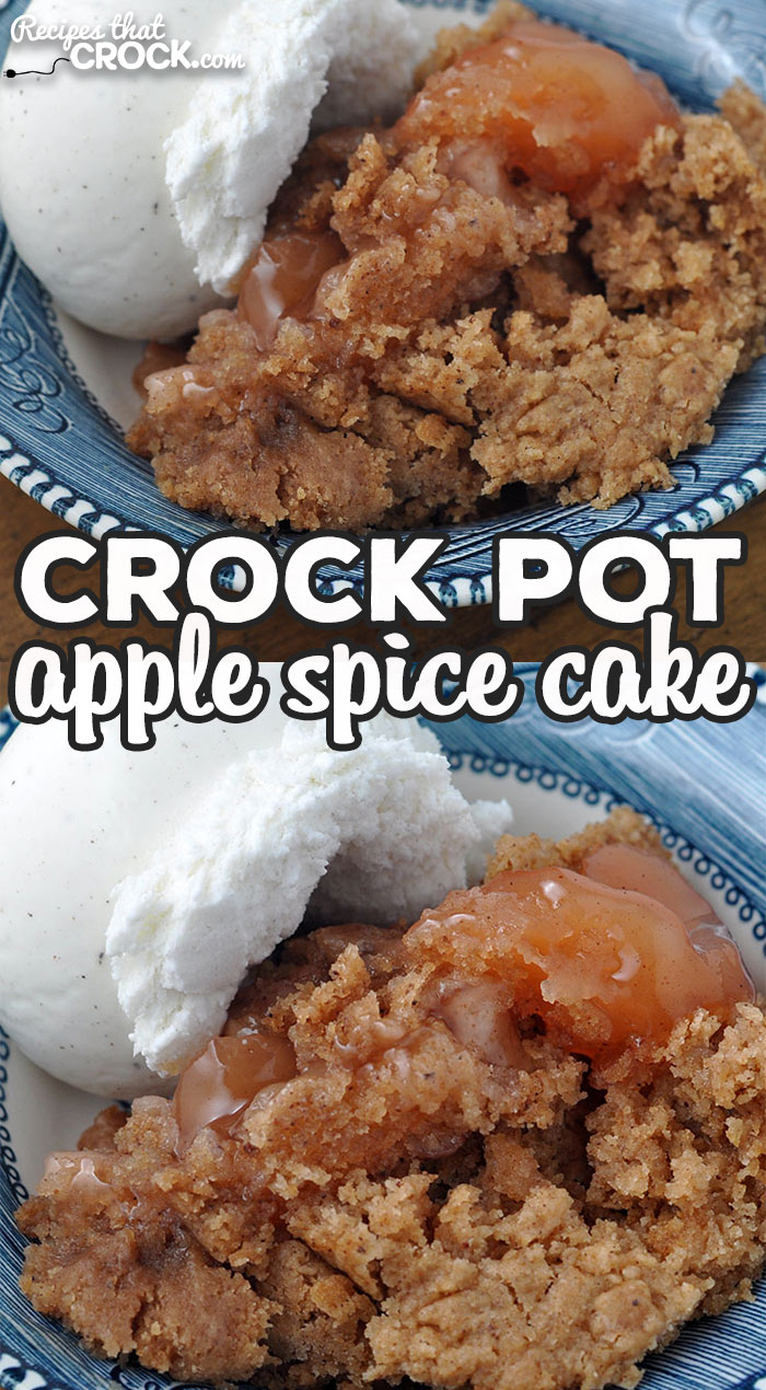 My family absolutely loved this Crock Pot Apple Spice Cake recipe. I bet you and your loved ones will too! The flavor is amazing! via @recipescrock