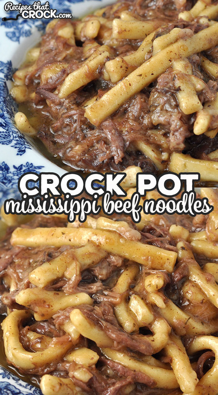 This Crock Pot Mississippi Beef Noodles recipe takes beef noodles up to the next level! The flavor is amazing, and it is super easy to make! via @recipescrock