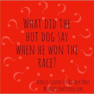 What did the hot dog say when he won the race?