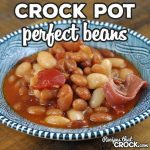 These Perfect Crock Pot Beans not only have the perfect flavor, they are perfectly easy to make as well! This dump and go recipe is sure to be a family favorite!