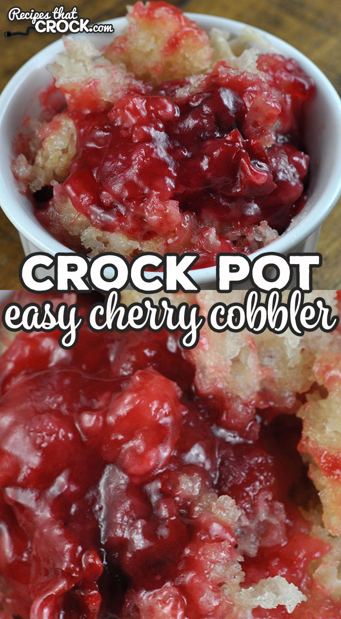 We love this Easy Crock Pot Cherry Cobbler recipe! It is such a simple recipe to put together, but the flavor is absolutely delicious! Win win! via @recipescrock
